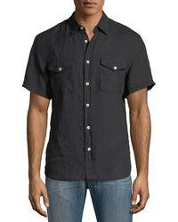 Billy Reid - Graham Pocket Short-sleeve Sport Shirt - Lyst