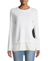 Lisa Todd - Dot Sweater With Shirting Hem - Lyst