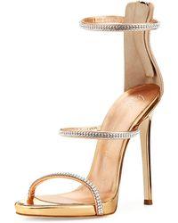 Giuseppe Zanotti - Jeweled Three-strap 110mm Sandal - Lyst