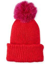 Eugenia Kim - Maddox Beanie Hat W/ Fur Pompom - Lyst