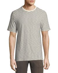 Vince - Men's Reverse Striped Pima Crewneck T-shirt - Lyst
