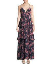 Fame & Partners - The Wyatt Floral Tiered Ruffle Dress - Lyst
