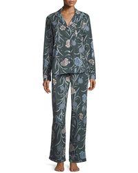 Desmond & Dempsey - British Floral-print Long Pajama Set - Lyst