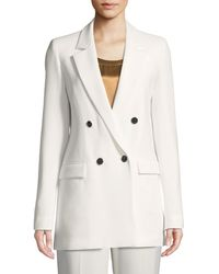 Lafayette 148 New York - Britton Finesse Crepe Double-breasted Jacket - Lyst