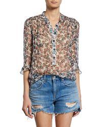 ca9cb96b01f0e Rag   Bone - Susan Floral-print Chiffon 3 4-sleeve Blouse -