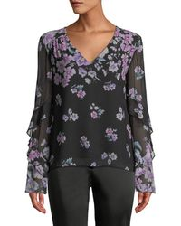 Nanette Lepore - Zen Floral-print Silk Blouse - Lyst