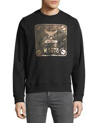MCM - Men's Logo Graphic Crewneck Sweatshirt - Lyst