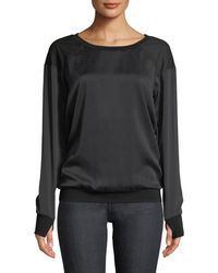 BLANC NOIR - Natoma Long-sleeve Pullover Sweater - Lyst