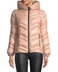 Moncler - Fuligule Chevron Puffer Coat W/ Hood - Lyst