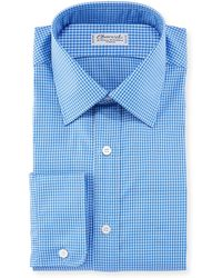 Charvet - Men's Tonal Tattersall Cotton Dress Shirt - Lyst