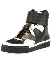 Balmain - Camouflage-tone High-top Sneaker - Lyst