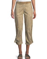 XCVI - Aiden ® Twill Crop Pants - Lyst