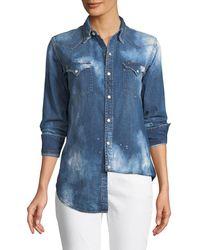Ralph Lauren Collection - Bleached Western Denim Shirt - Lyst