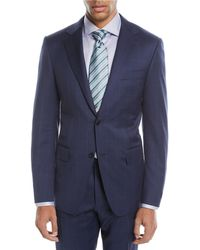 Canali - Windowpane Two-piece Wool Suit - Lyst