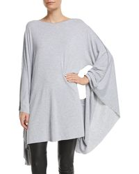 Made on Grand - Fleur-de-lis Boat-neck Batwing-arms Jersey Caftan - Lyst