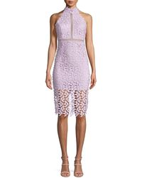 41d7b3f2 Bardot Gemma Halter Lace Sheath Dress in Blue - Lyst