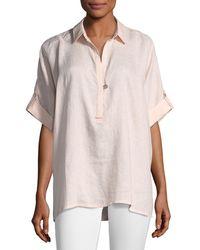 Go> By Go Silk - Oversized Short-sleeve Linen Tunic - Lyst