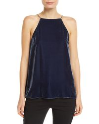 Cami NYC - The Charlie Velvet Lace-up Cami - Lyst
