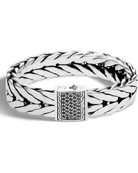 John Hardy | Men's Extra-large Modern Chain Bracelet With Black Sapphire | Lyst