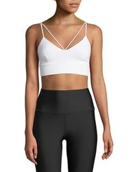 Alo Yoga - Glisten V-neck Strappy Sports Bra - Lyst
