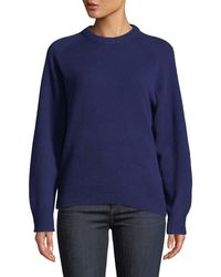Theory - Crewneck Cashmere Pullover Sweatshirt - Lyst