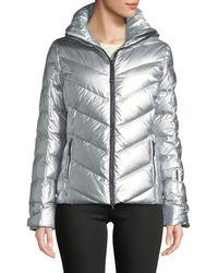 Bogner - Sassy Metallic Puffer Coat In Chevron - Lyst