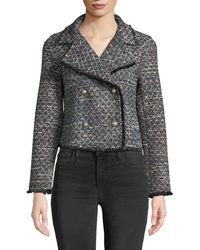 Cupcakes And Cashmere - Annica Cropped Tweed Jacket - Lyst