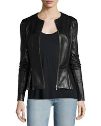 The Row - Anasta Zip-front Leather Jacket - Lyst