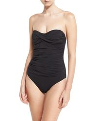 Letarte - Essentials Bandeau-top One-piece Swimsuit - Lyst
