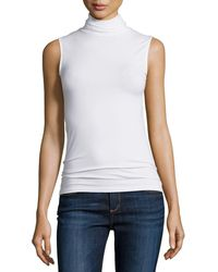 Neiman Marcus - Soft Touch Sleeveless Stretch Turtleneck - Lyst