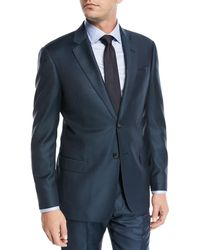 Emporio Armani - Birdseye Two-piece Wool Suit - Lyst
