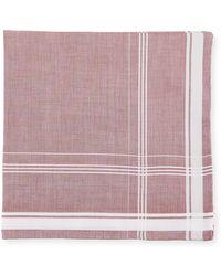 Simonnot Godard - Satin Check-trim Pocket Square - Lyst