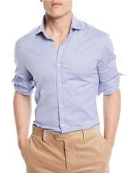 Brunello Cucinelli - Men's Basic-fit Pique Sport Shirt - Lyst