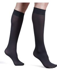 Wolford - Velvet De Luxe 50 Denier Knee-high Socks - Lyst