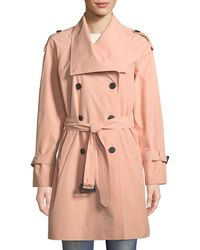 Mackage - Cinzia Double-breasted Belted Rain Jacket - Lyst