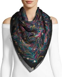 Liberty - Orion Silk Feather Scarf - Lyst