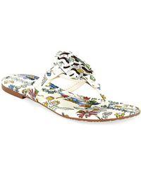 bd0e5316cde4 Tory Burch - Miller Printed Flat Thong Sandals - Lyst