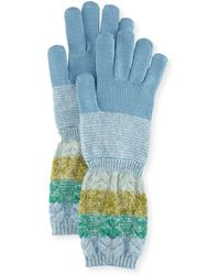 Missoni | Striped Wool/mohair Knit Gloves | Lyst