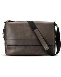 Shinola - Men's East-west Leather Messenger Bag - Lyst