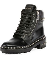 Balmain - Ranger Studded Leather Army Boot - Lyst