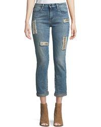 Brockenbow - Club 55 Lily Slim Skinny Jeans W/ Embroidery - Lyst