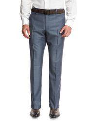 Zanella | Super 130s Wool Sharkskin Trousers | Lyst