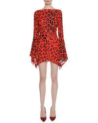 Tom Ford - Open-back Leopard-print Jersey Mini Dress - Lyst