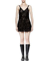Saint Laurent | Sleeveless Lace Mini Dress | Lyst