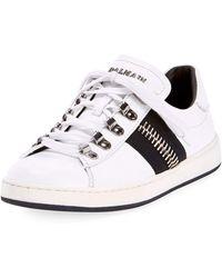 Balmain - Men's Eric Low-top Leather Sneakers - Lyst