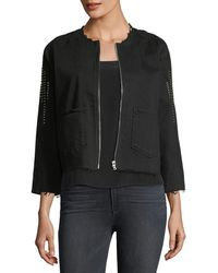 3x1 - Cole Studded Denim Jacket - Lyst