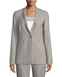 Lafayette 148 New York - Darcy One-button Stardust Wool Suiting Jacket - Lyst