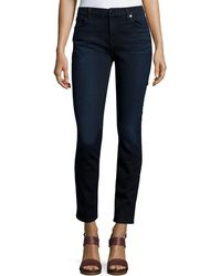 7 For All Mankind - Riche Touch Skinny Ankle Jeans Dark Blue - Lyst