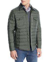 Peter Millar - Men's Crown Elite Quilted Shirt Jacket - Lyst
