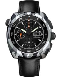 Tockr Watches - Air Defender Camouflage Chronograph Leather Watch - Lyst
